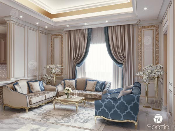 Luxury living room interior decoration