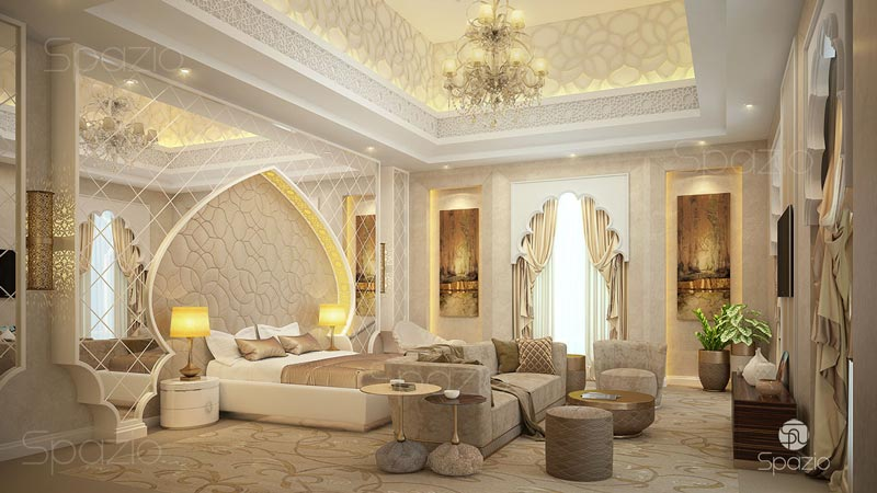 Arabic modern classical master bedroom interior design