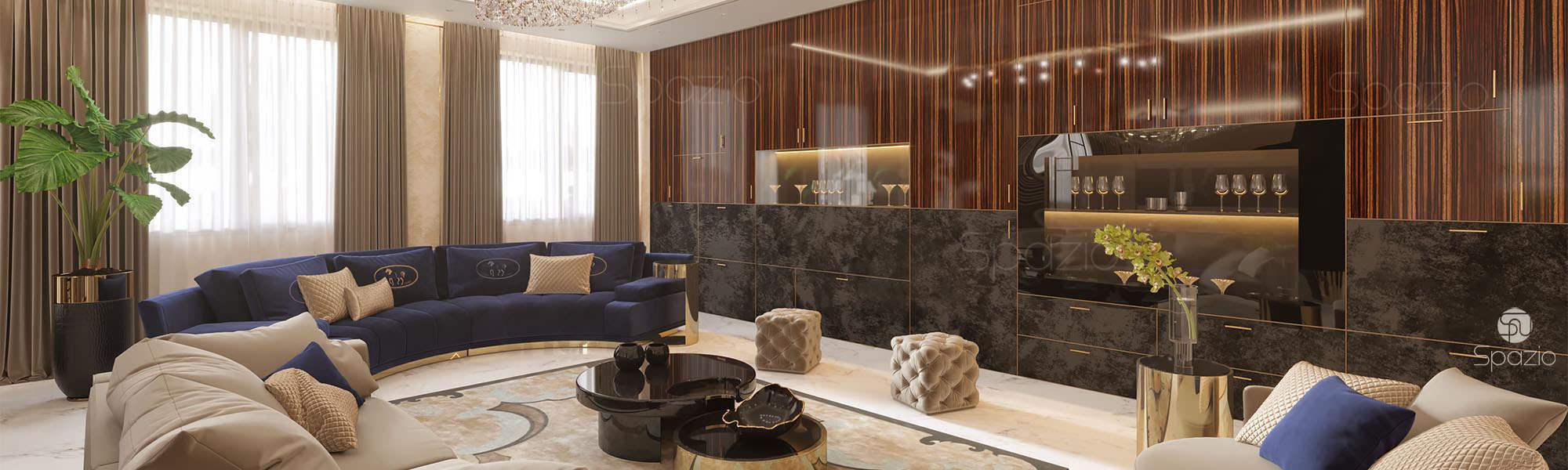 Современный дизайн гостинной