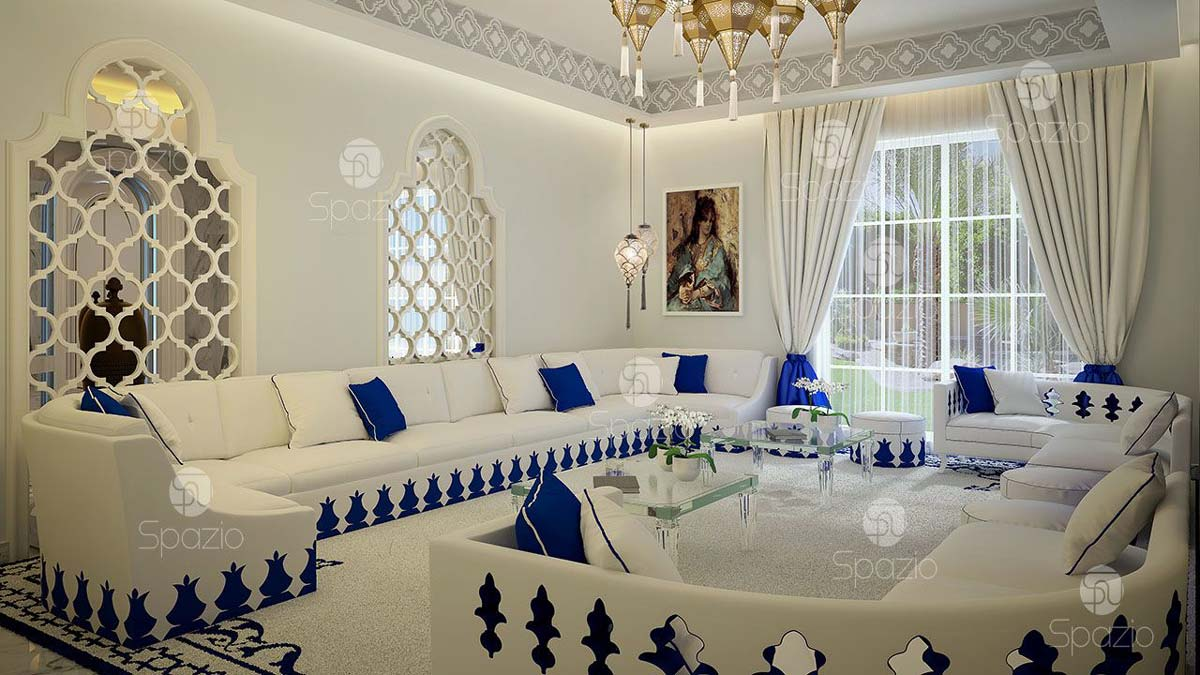 White Arab living room