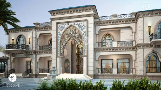 Luxury Arabic villa design with traditional decor