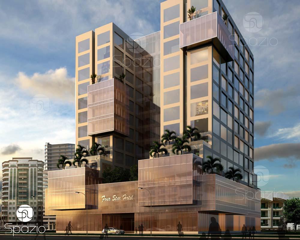modern hotel building architecture exterior design
