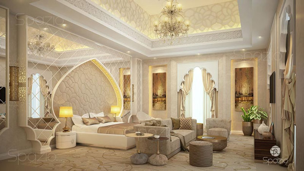 Arabic style master bedroom interior design