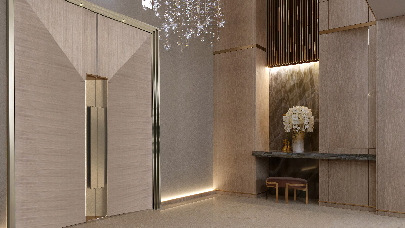 Luxury double door design for a large entrance hallway