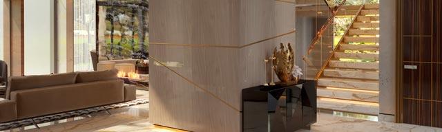 Luxury modern villa hall