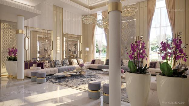 Luxury contemporary living room interior design