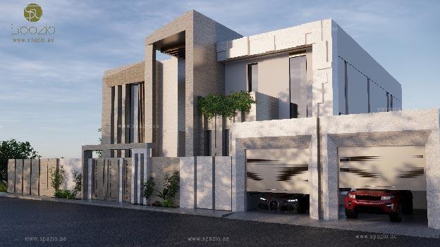 Modern villa exterior for a house