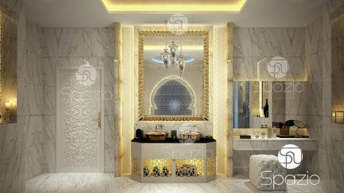 Arabesque bathroom styling.