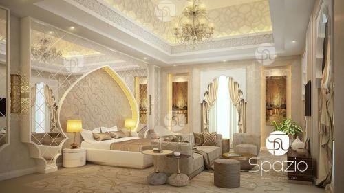 Arabian bedroom decor.