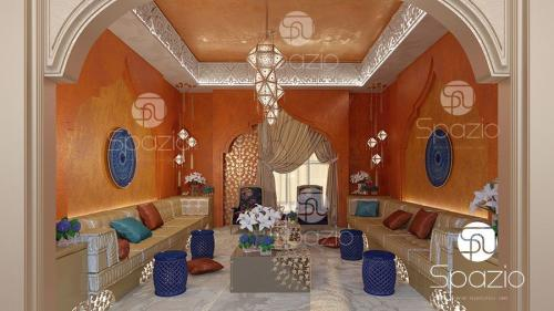 Arabic interior decoration and design.