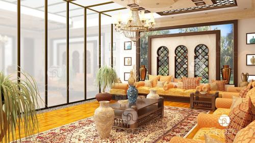 Arabesque style living space.