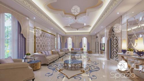 An arabic style sitting in  a villa in Abu Dhabi.
