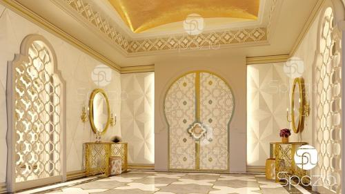 Arabian inside designing for a hall in  a villa in the UAE.
