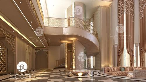 Arabic type interior design of a luxurious premises.
