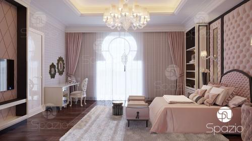 Fancy Bedroom Contemporary Interior in Dubai