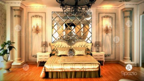The bedroom is defeated in the nomination of the best interior design in the classic style.