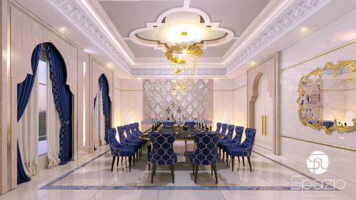 Dining room interior design.