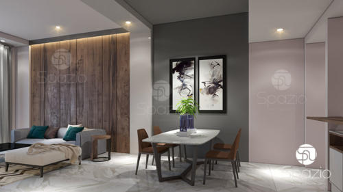 Contemporary dining room interior design in Dubai