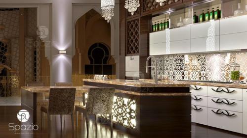 Luxury interior of dining room