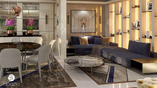 Photo od luxurious living premises indoor design in Sharjah UAE.