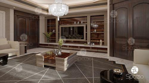 Formal man majlis interior design in United Arab Emirates.