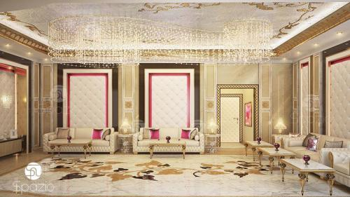 luxury arabic style seating in a villa