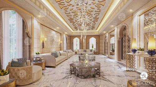 modern majlis interior design in Dubai house