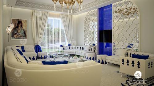 moroccan majlis interior design in arabic villa in Dubai